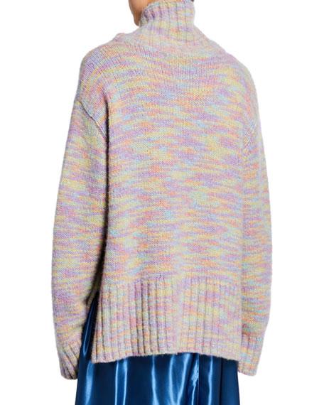 Oversized Turtleneck Wool-Silk Sweater