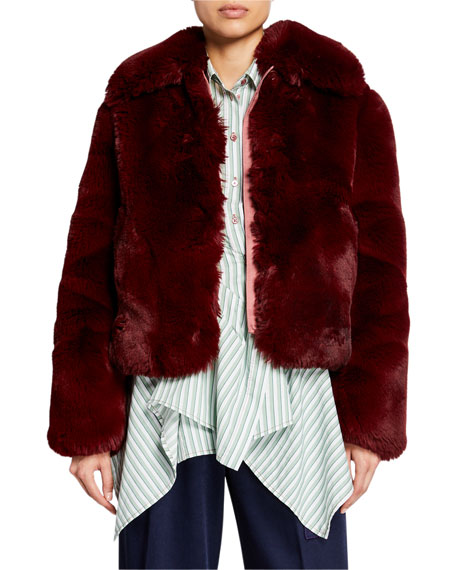 Faux-Fur Zip-Front Jacket