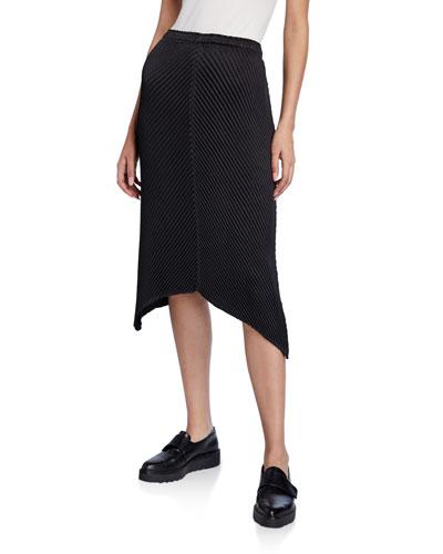 Glow-Pleated Handkerchief Skirt