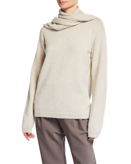 Cashmere Scarf Sweater