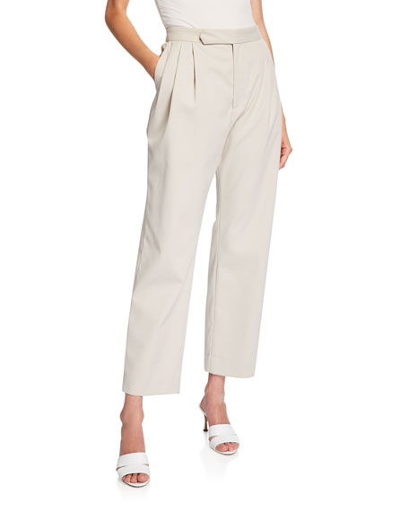 Isabella Pleated Repellant Twill Pants