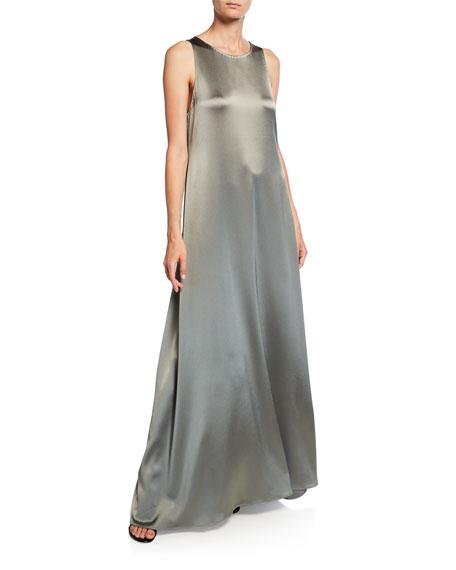 Sleeveless Satin Gown