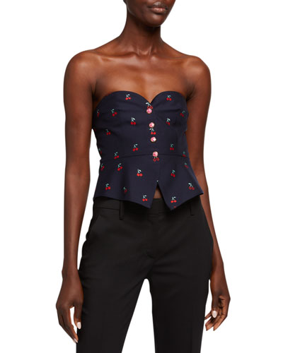 ee76362d370 Cherry fil Coupe Wool Bustier Quick Look. Gucci