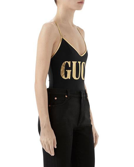 Golden Logo Swimsuit