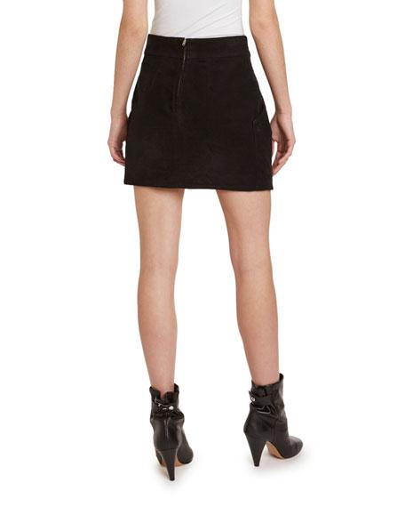 Wool High-Rise Tulip Mini Skirt