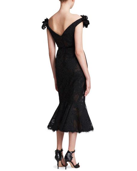 Off-the-Shoulder Lace Cocktail Dress