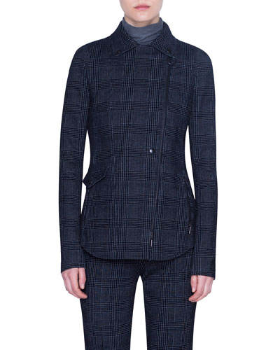 Glen Check Velvet Jacket