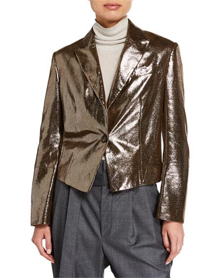 Sparkling Napa Leather Jacket