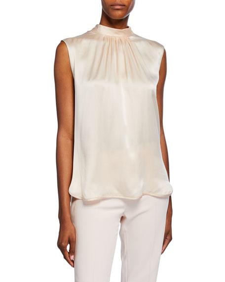 Orel Sleeveless Two-Tone Silk Top