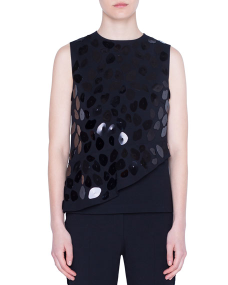Sequined Animal Dot Paillettes Jersey Tank