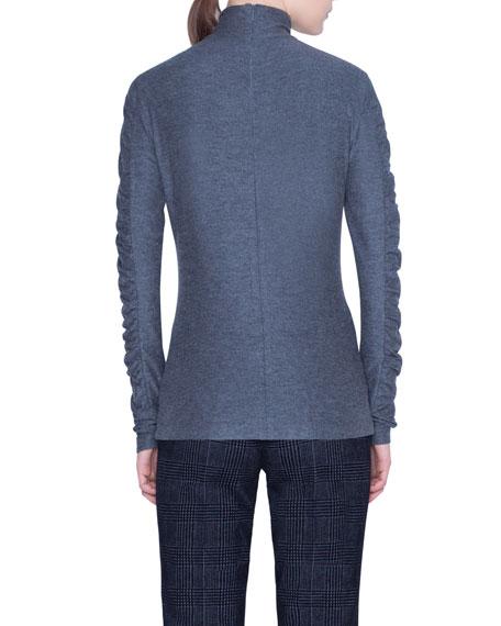 Jersey Melange Ruffled Shirt