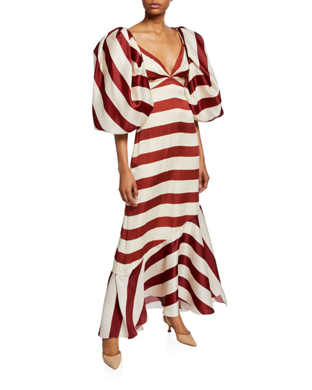 Strappy Convertible Wide-Striped Cocktail Dress