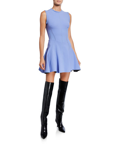 Jersey Fit-and-Flare Mini Dress