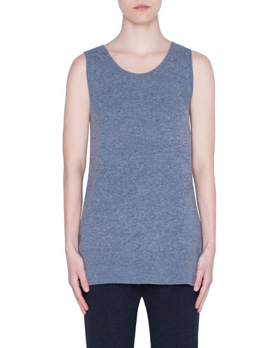 Wool-Cashmere Sleeveless Sweater