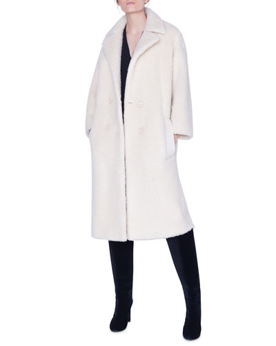Fluffy Knit Midi Coat