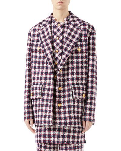 Sylvie Vichy Checked Oversized Jacket
