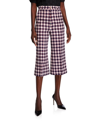 Sylvie Checked Culotte Pants
