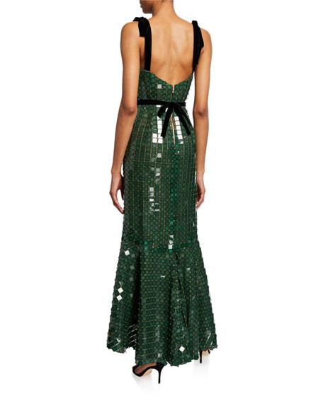 Sequined Tank Ruffle-Hem Dress