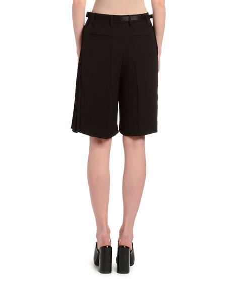 Draped Tech-Fabric Shorts