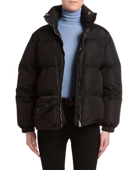 Belt-Bag Nylon Puffer Coat
