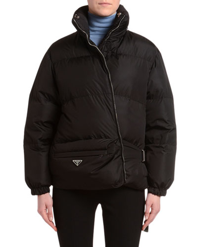 Belt-Bag Nylon Puffer Coat
