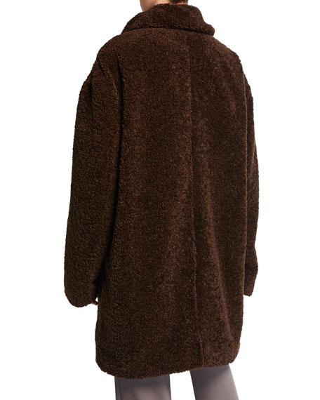 Collared Faux-Fur Long Coat