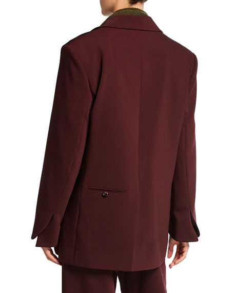 Elongated Bonded Wool Jacket