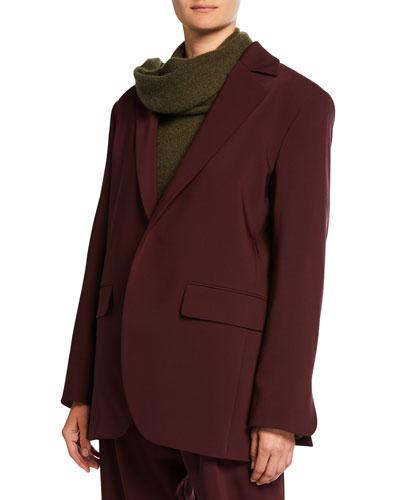 Elongated Bonded Wool Jacket