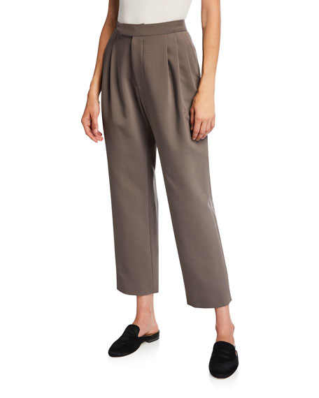 Isabella Bonded Wool Crop Pants