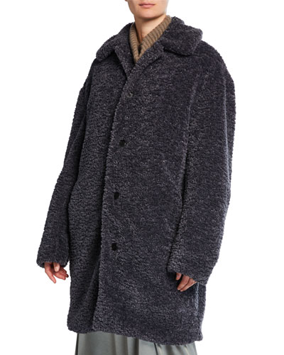 Faux-Fur Collared Long Coat
