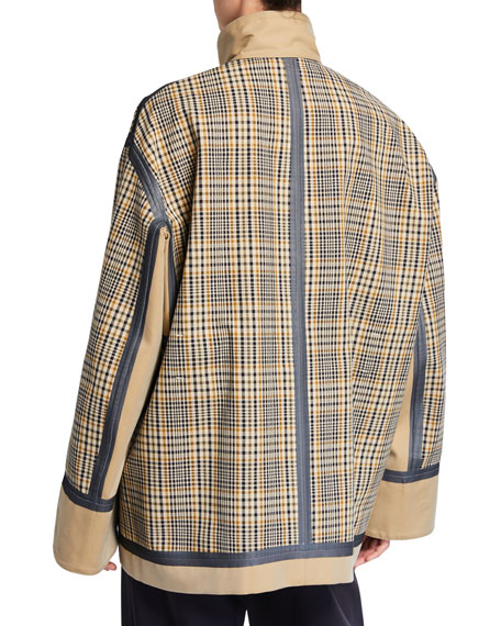 Check Double-Face Cotton Short Jacket