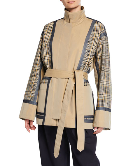 Check Double-Face Cotton Short Jacket