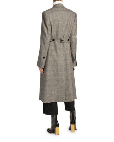 Plaid Wool Coat