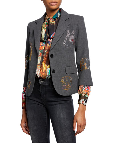 Adopt Don't Shop Jeweled Blazer
