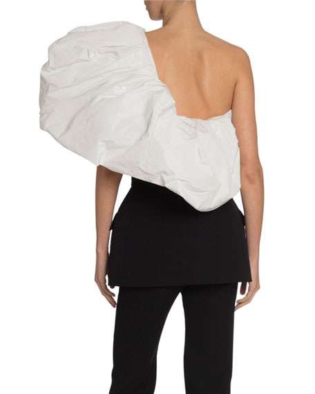 Tailored Double-Breasted Bustier Top