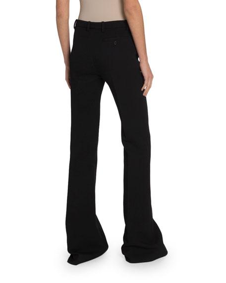 Wool Crepe Wide-Leg Trousers
