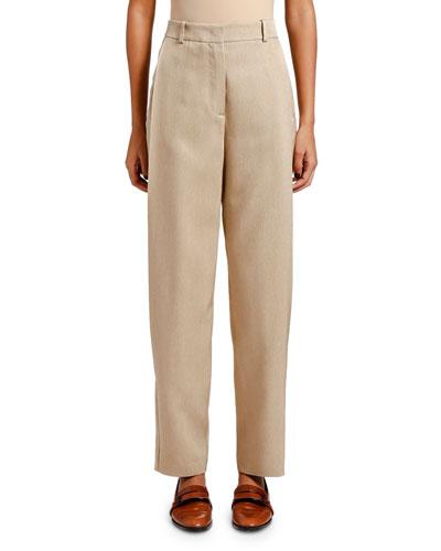 Silk Twill Pants