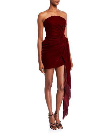 Strapless Velvet Cocktail Dress