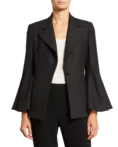 Bell-Sleeve Suit Jacket