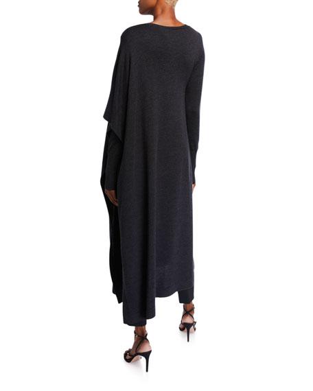 Wool-Silk Tunic Sweater
