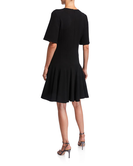 Short-Sleeve Flounce Day Dress