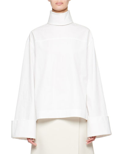 Mayomi Poplin Turtleneck Top
