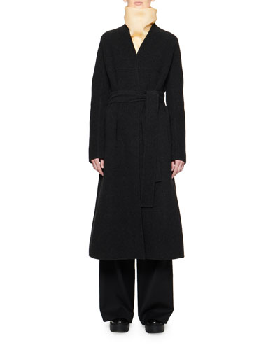 Luisa Wool Wrap Coat