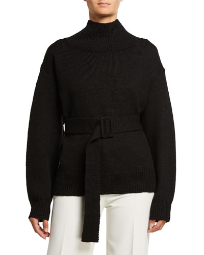 Wool Belted Sweater