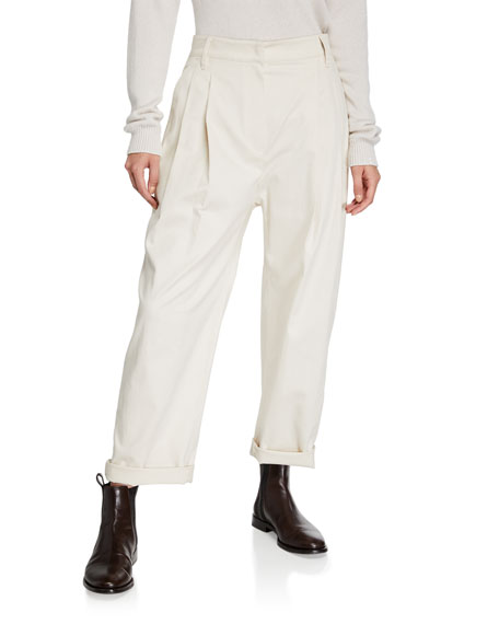 Baggy Cotton Twill Pants