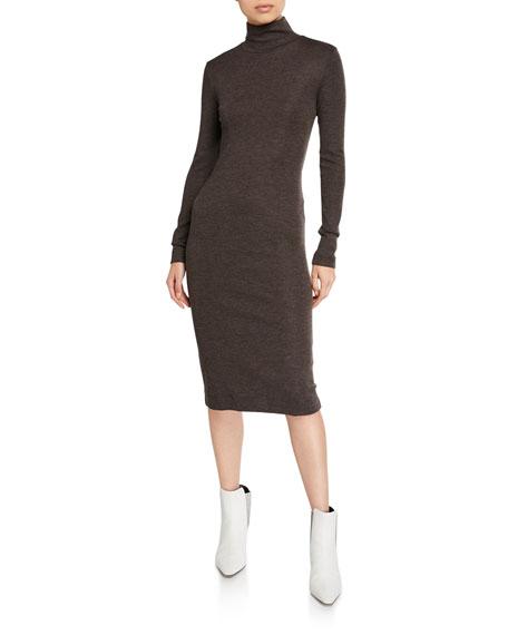 Jersey Mock-Neck Bodycon Dress