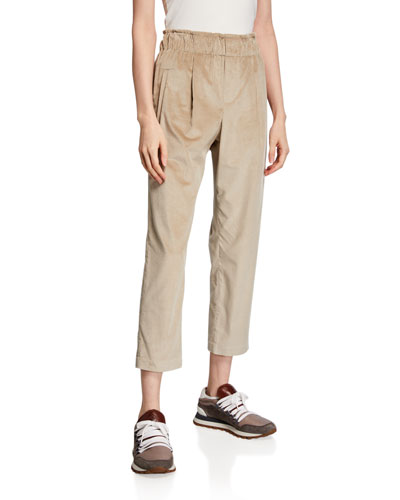 Cotton-Cashmere Corduroy Pants