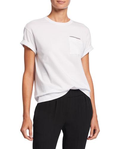 Monili-Pocket Cotton T-Shirt