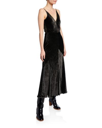 Bridget Velvet Paneled Dress
