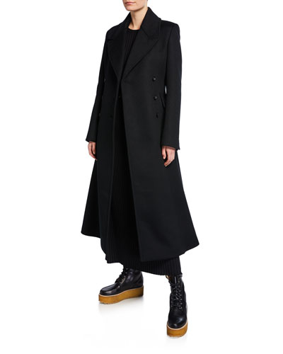 Cantwell Brushed-Cashmere Fit-&-Flare Coat
